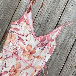 Ann Taylor Delicate Floral Spaghetti Strap Dress